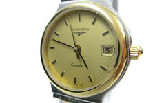 Auth LONGINES Flagship Date Gold Plated, Stainless Steel Quartz Women's Watch