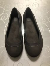 """Crocs """"Mammoth"""" Women's Shoes Size 10M Brown Lined Bed Ballet Flat"""