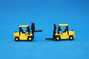 N Scale custom painted 3 D printed Forklifts (2) Medium Yellow