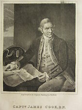1838 PRINT & BIOGRAPHY ~ CAPTAIN JAMES COOK