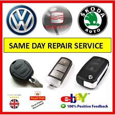 VW Keyfob . Seat . Skoda Remote Fob Repairs  Free Delivery 100% F/B   100's Sold