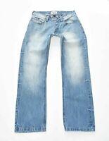 "Men's Vintage AMERICA TODAY Button Fly Straight Leg Blue Denim Jeans W32"" L31"""