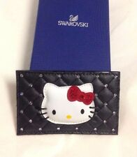 Swarovski Hello Kitty Leather Card Holder Black 1133840 NIB