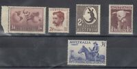 Australia KGVI Collection Of 5 To 2/- MNH J9886