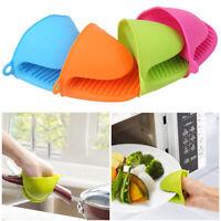 Kitchen Silicone Gloves Heat Resistant Grip Baking Mitts Oven Pot Holder Gadget