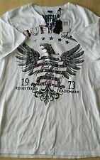 "NWT Men's Buffalo By David Bitton T-shirt ""NAJANI"" Color White  size M $39.00"