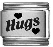 Clearly Charming Hugs Laser Italian Charm