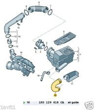 NEW GENUINE VW JETTA GOLF SEAT LEON AIR INTAKE AIR HOSE 1K0129618CA