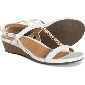 New Women`s Vionic with Orthaheel Technology Cali Leather Sandals PORT CALI