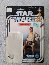 KENNER Luke Skywalker Farmboy Cardback Only Star Wars Vintage 12 Back Original