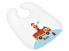 Babylätzchen (834) Feuerwehr mit Name und Themenbild personalisiert Spucktuch