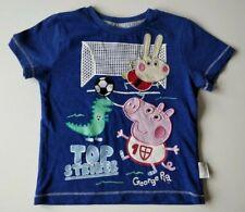 TU George Peppa Pig Blue Boys Short Sleeves T-shirt - Size 2-3 Years