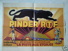 Affiche collection cirque Pinder ORTF panthere