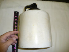 VINTAGE ANTIQUE BROWN & WHITE   WHISKEY JUG 11.5  X 7  INCHES HAS CRACK