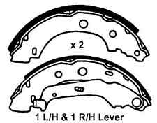 Renault Kangoo MPV 99-09, Kangoo Van 99-09 With 203mm New Rear Brake Shoes