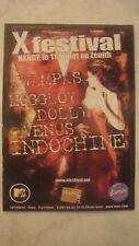 Indochine - Flyer x festival zenith de nancy,le 11 juillet 2003 noir désir