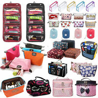 Womens Travel Toiletry Wash Cosmetic Folding Make Up Bag Girl Pouch Storage Case