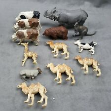 Vintage Britains Plastic Animal Toys Lot Cows Camel Kangaroo Etc