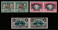 More details for south west africa 1939 sg111/13 1939 kgvi set of 3 in pairs with opt u/m