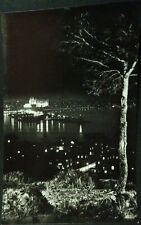 ANTIGUA POSTAL 1958 PALMA DE MALLORCA BALEARES NOCTURNA DESDE LA BONANOVA CC4189