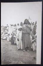 1917 AFRICA COLONIE LIBIA Zuara vera foto cartolina Donna con bandiera italiana