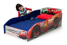Boy Toddler Bed Wooden Disney Cars Lightning Mcqueen Kid Race Bedroom Furniture