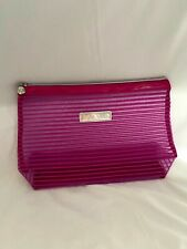 New Lancome Pink Paris Zippered Cosmetic Makeup Travel Case Bag Pouch