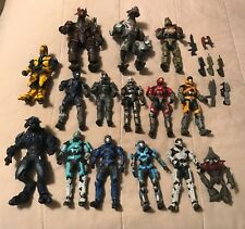 Lot of 15 Microsoft McFarlane 2009 and 2010 Halo Action Figures w/ Accessories