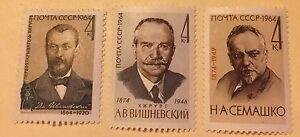 1964, Russia, 2936-2938, MNH, Doctors