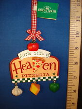 Pizza Ornament A Little Slice of Heaven Pizzeria Sign A0799 124
