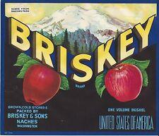 Briskey Apples Original Naches Washington Apple Crate Label