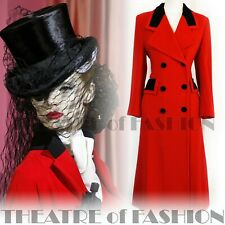 COAT VINTAGE RIDING JACKET MANSFIELD RED VICTORIAN MISTRESS VAMP 40s 30s 50s