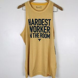 Under Armour Project Rock Hardest Worker In The Room Sleeveless Tank Men's Sz S