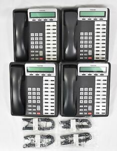 Lot of (4) Toshiba Strata DKT3220-SD Display Business Office Telephones