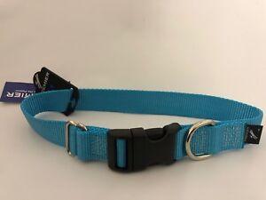 "Premier Petsafe Quick Snap adjustable Dog Collar Medium Ice Blue 1"" New"