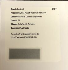 JuJu Smith Schuster Rookie Autograph 2017 National Treasures Jrsy Auto Steelers
