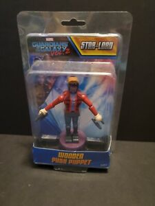 NEW Marvel Guardians of the Galaxy Vol. 2 Star-Lord Wooden Push Puppet Figure