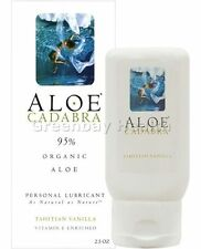 Aloe Cadabra Organic Lube All Natural Personal Lubricant Vanilla 2.5 oz
