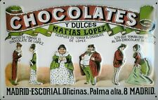 Matias Lopez Madrid Chocolates Motiv 2 Blechschild Schild Tin Sign 20 x 30 cm