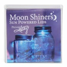 Primitives By Kathy Antique Silver Moon Shiners Solar Powered Jar Lid Only