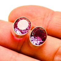 """Amethyst 925 Sterling Silver Earrings 1/2"""" Ana Co Jewelry E410046F"""