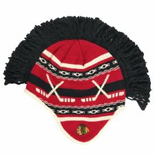 Chicago Blackhawks Spiked Mohawk Knit Beanie Hat Reebok NHL Official