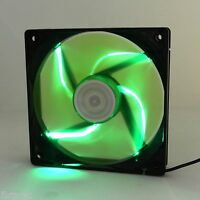 Autolizer 120mm LED Neon GREEN Computer PC Case Cooling Fan Quiet Sleeve Bearing