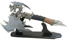 Multi Blade Dragon Display Axe on Stand New (FM-650)