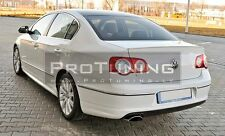 VW Passat 3C B6 Saloon Rear Boot Trunk Spoiler R line look Lip Wing Sport Trim