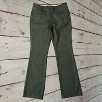 Banana Republic Womens Gray Stripe Martin Fit Dress Pants Size 2 Reg Bootcut EUC