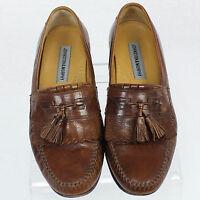 Johnston & Murphy Vero Men Brown Leather Tassel Loafer Slip On Shoe Sz 9.5 EUC