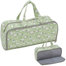 Knitting Bag with Pin Storage Side Pocket - Sheep - Hobbygift - MRHG4700E438
