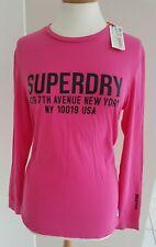 SUPERDRY - PINK LONG SLEEVE T-SHIRT - UK10 - BNWT!
