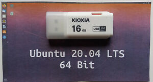Ubuntu  Linux  20.04 Complete Operating System and Software on 16gb Branded USB